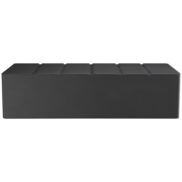 "Scratch and Dent Regency 48"" x 24"" x 12"" Black Plastic End Cap / Spot Merchandiser - 1500 lb. Capacity Main Image 1"