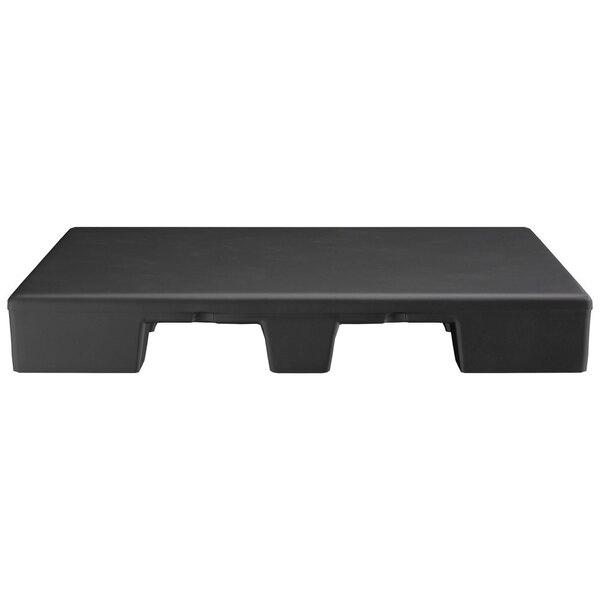 "Scratch and Dent Regency 48"" x 40"" x 6"" Black Plastic End Cap / Spot Merchandiser - 2000 lb. Capacity Main Image 1"