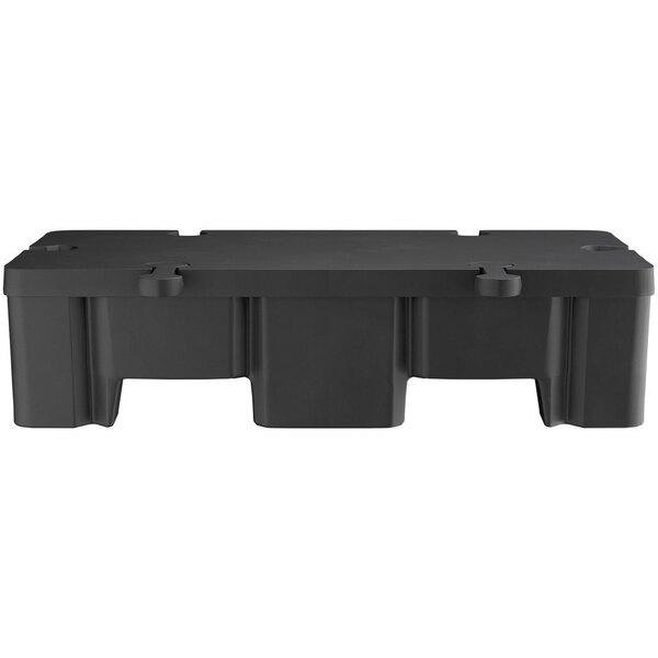 "Scratch and Dent Regency 48"" x 24"" x 12"" Black Plastic Display Base - 2000 lb. Capacity Main Image 1"