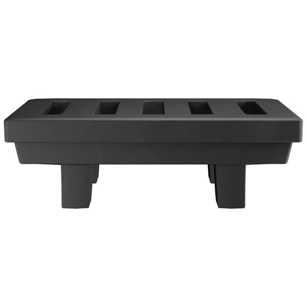 "Scratch and Dent Regency 36"" x 22"" x 12"" Black Plastic Economy Dunnage Rack with Slotted Top - 1000 lb. Capacity Main Image 1"