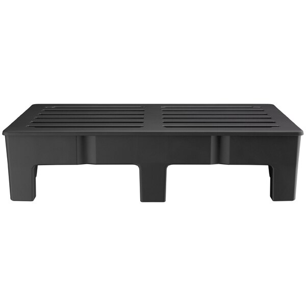 "Scratch and Dent Regency 48"" x 36""x 12"" Black Plastic Heavy-Duty Dunnage Rack with Slotted Top - 2500 lb. Capacity Main Image 1"