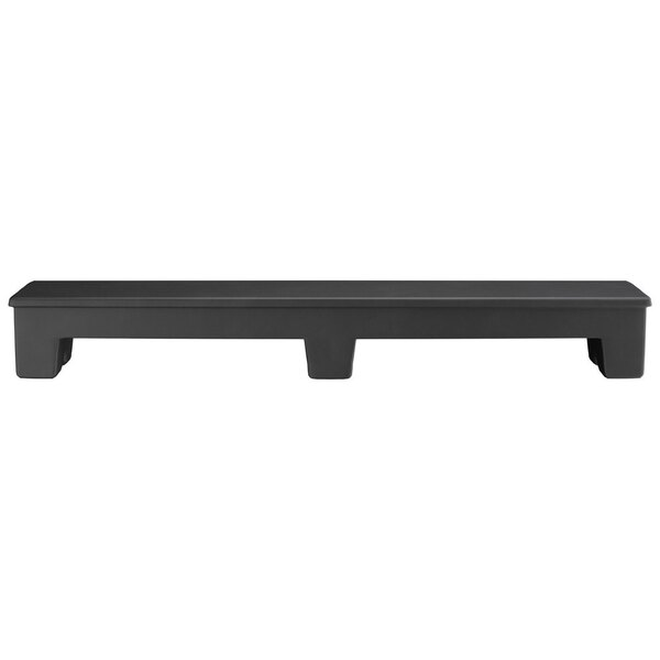 "Scratch and Dent Regency 60"" x 12"" x 8"" Black Plastic Narrow Dunnage Rack with Solid Top Main Image 1"