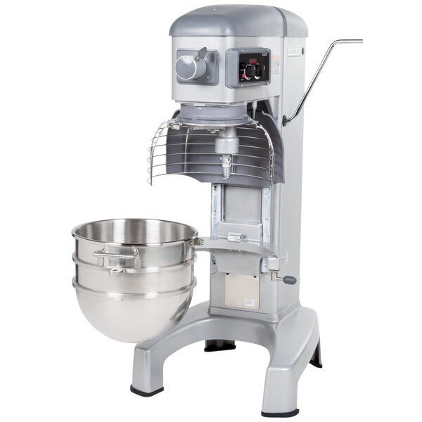 Scratch and Dent Hobart Legacy HL300 30 Qt. Commercial Planetary Floor Mixer with Accessories - 120V, 3/4 hp Main Image 1
