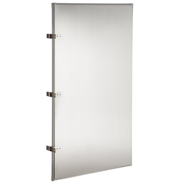 """Scratch and Dent Lavex Janitorial 24"""" x 42"""" Stainless Steel Urinal Partition Main Image 1"""