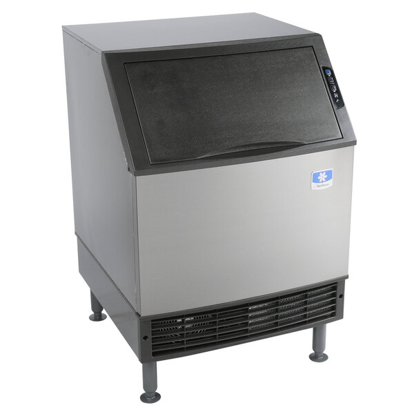 """Scratch and Dent Manitowoc UYF0240A NEO 26"""" Air Cooled Undercounter Half Dice Cube Ice Machine with 90 lb. Bin - 115V, 219 lb. Main Image 1"""