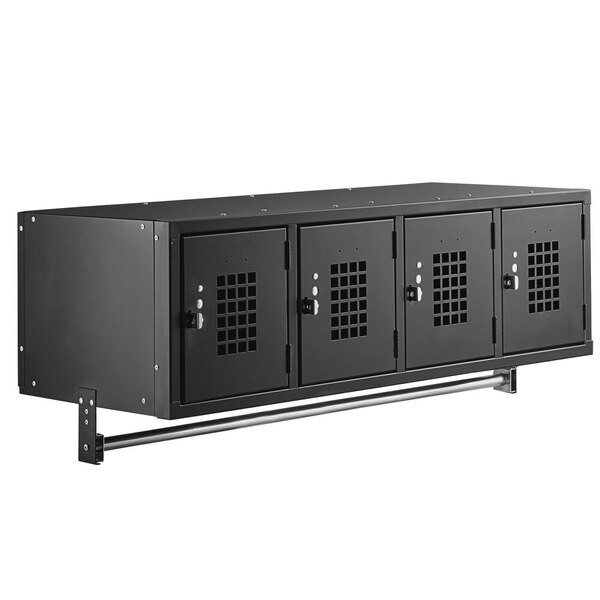 """Scratch and Dent Regency Space Solutions Black 45"""" x 18"""" Wall Mount Locker Main Image 1"""