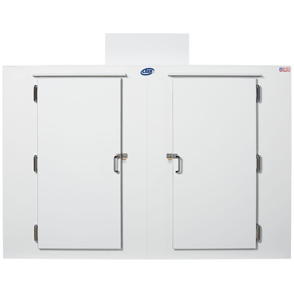 """Scratch and Dent Leer S100 94"""" Outdoor Freezer with Straight Front, Steel Doors, and 8 Shelves Main Image 1"""
