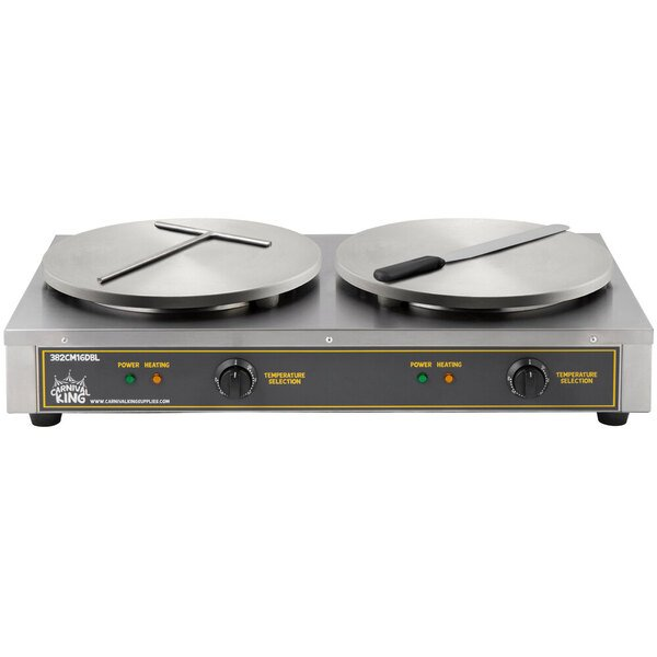 """Scratch and Dent Carnival King CM16DBL 16"""" Dual Crepe Maker - 208/240V, 33 3/4"""" x 18 3/4"""" x 7"""" Main Image 1"""