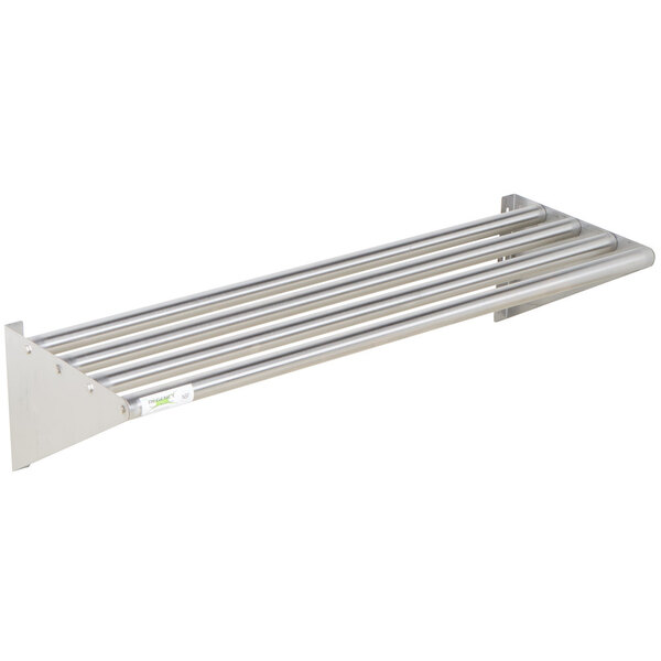 "Scratch and Dent Regency 16"" x 48"" Stainless Steel Tubular Wall Mounted Shelf Main Image 1"