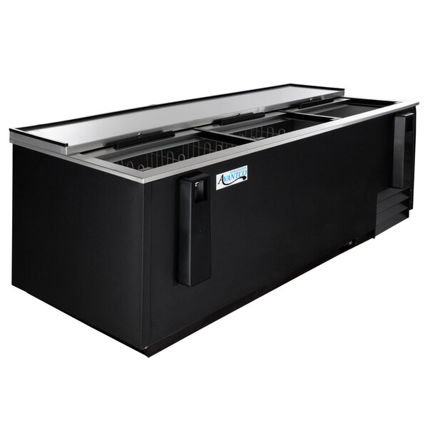"Scratch and Dent Avantco HBB-80-HC 80"" Black Horizontal Bottle Cooler Main Image 1"
