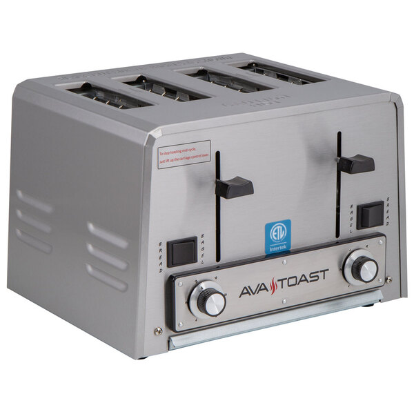 Scratch and Dent Avatoast THD27240 Heavy-Duty Switchable Bread and Bagel 4-Slice Commercial Toaster - 240V Main Image 1