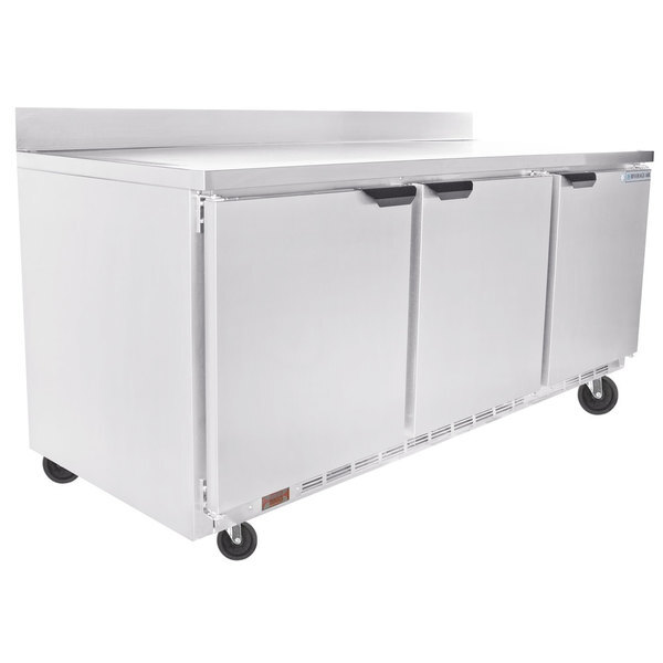 "Scratch and Dent Beverage-Air WTR72AHC-23 72"" ADA Height Worktop Refrigerator Main Image 1"