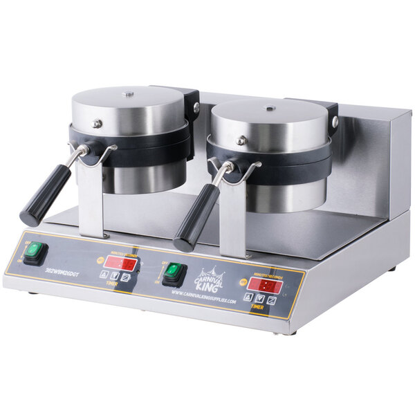 Scratch and Dent Carnival King WBM26DGT Non-Stick Double Belgian Waffle Maker with Digital Timer and Temperature Controls - 120V Main Image 1