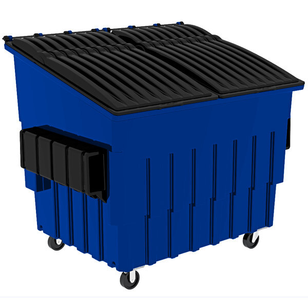 Scratch and Dent Toter FL040-60448 4 Cubic Yard Blue Front End Loading Mobile Trash Container / Dumpster (2000 lb. Capacity) Main Image 1