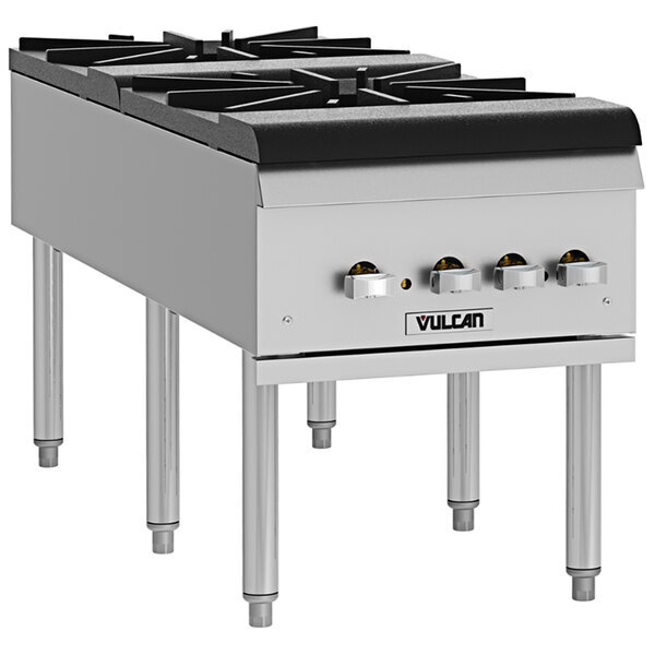 Scratch and Dent Vulcan VSP200F Natural Gas 2 Burner Stock Pot Range - 220,000 BTU Main Image 1