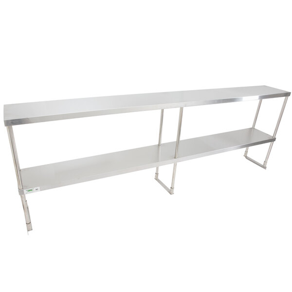 "Scratch and Dent Regency Stainless Steel Double Deck Overshelf - 18"" x 96"" x 32"" Main Image 1"