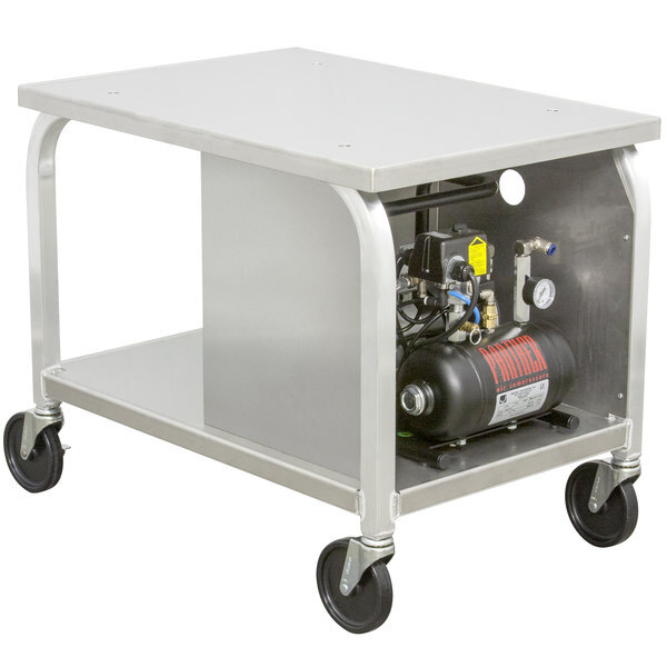 Scratch and Dent DoughXpress DXC-3AC Mobile Cart with Air Compressor for Air Operated Dough Presses Main Image 1