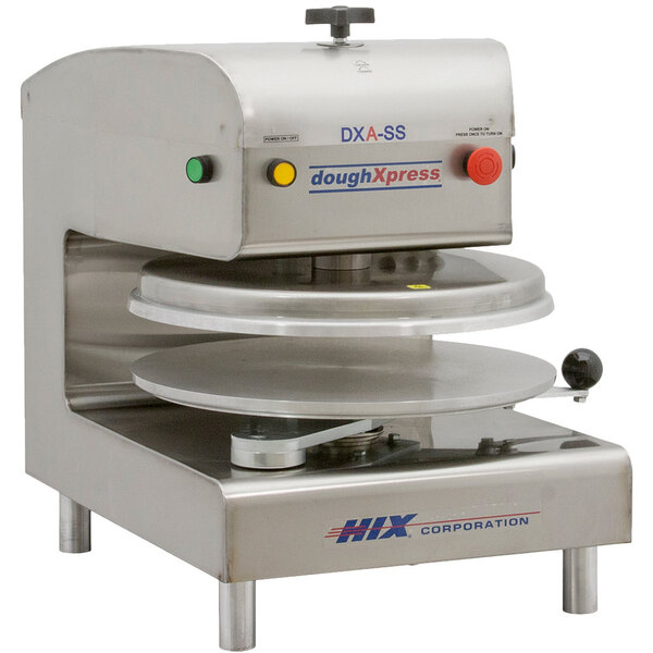 """Scratch and Dent DoughXpress DXA-SS 18"""" Air Automatic Stainless Steel Heavy Duty Pizza Dough Press - 120V, 1150W Main Image 1"""