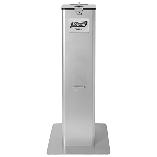 Scratch and Dent Purell 9118-DSLV High Capacity Freestanding Wipe Dispenser Main Image 1