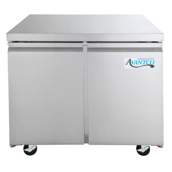 "Scratch and Dent Avantco SS-UC-36R-HC 35 1/4"" Undercounter Refrigerator Main Image 1"