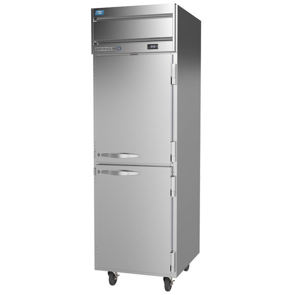 Scratch and Dent Beverage-Air CT1HC-1HS Cross-Temp 1 Section Convertible Reach-In Refrigerator / Freezer with Half Doors Main Image 1