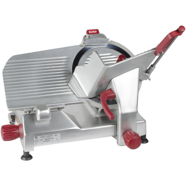 """Scratch and Dent Berkel 827A-PLUS 12"""" Manual Gravity Feed Meat Slicer - 1/2 hp Main Image 1"""