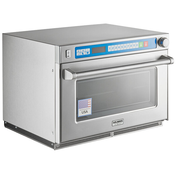 Scratch and Dent Solwave Ameri-Series Heavy-Duty Commercial Steamer Microwave Oven - 208/240V, 3,500W Main Image 1