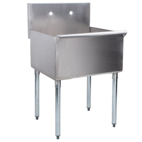 """Scratch and Dent Regency 24"""" 16-Gauge Stainless Steel One Compartment Commercial Utility Sink - 24"""" x 24"""" x 14"""" Bowl Main Image 1"""