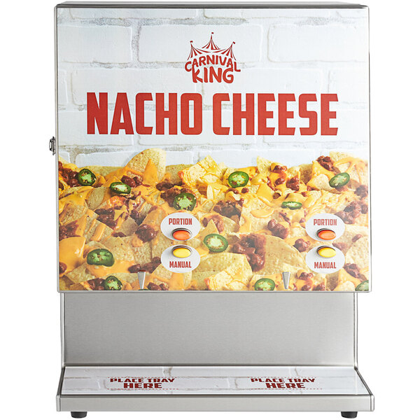 Scratch and Dent Carnival King CD450 Stainless Steel Dual Peristaltic Cheese Sauce and Chili Dispenser - 120V, 450W Main Image 1