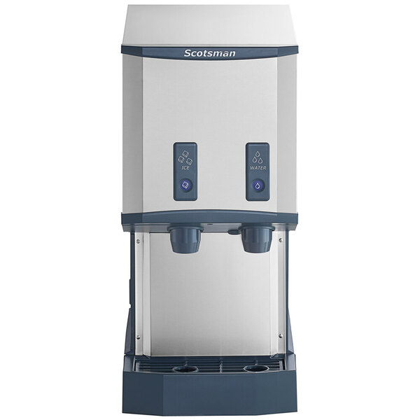 Scratch and Dent Scotsman HID312AB-1 Meridian Countertop Air Cooled Ice Machine and Water Dispenser with Push Button Dispensing - 12 lb. Bin Storage Main Image 1