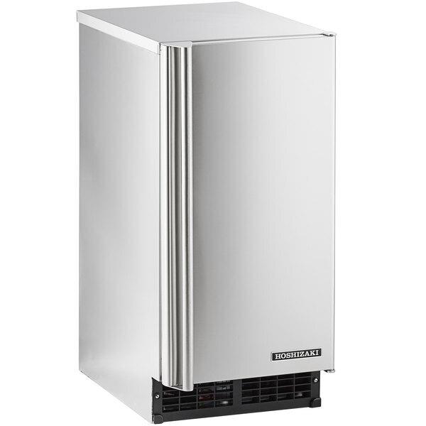 "Scratch and Dent Hoshizaki AM-50BAJ 14 7/8"" Air Cooled Undercounter Top Hat Cube Ice Machine - 51 lb. Main Image 1"