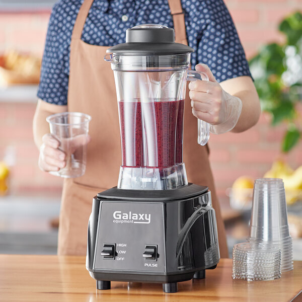Scratch and Dent Galaxy GBB640T 3 1/2 hp Commercial Blender with Toggle Control and 64 oz. Tritan Plastic Jar Main Image 1