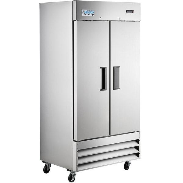 "Scratch and Dent Avantco A-35R-HC 39 1/2"" Solid Door Reach-In Refrigerator Main Image 1"