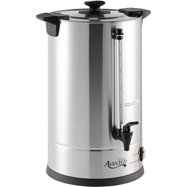 Scratch and Dent Avantco CU100ETL 100 Cup (500 oz) Double Wall Stainless Steel Coffee Urn / Coffee Percolator - 1500W, ETL Main Image 1