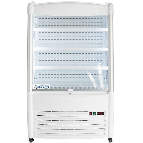 "Scratch and Dent Avantco WMAC-36HC 36"" White Vertical Open-Air Merchandiser - 110V Main Image 1"