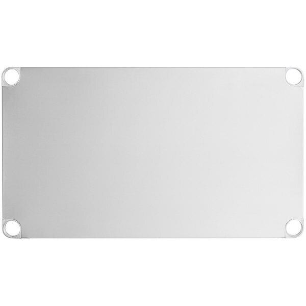 "Scratch and Dent Regency Adjustable Stainless Steel Work Table Undershelf for 24"" x 36"" Tables - 18 Gauge Main Image 1"