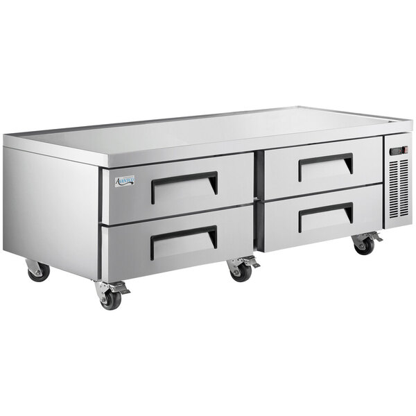 """Scratch and Dent Avantco CBE-72-HC 72"""" 4 Drawer Refrigerated Chef Base Main Image 1"""