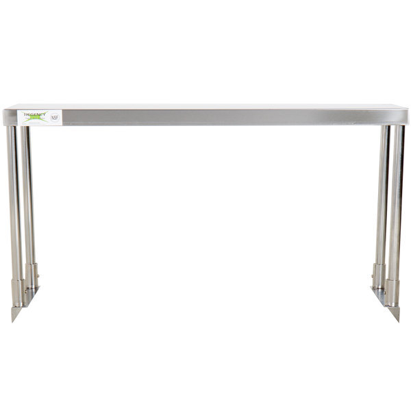 """Scratch and Dent Regency Stainless Steel Single Deck Overshelf - 12"""" x 36"""" x 19 1/4"""" Main Image 1"""