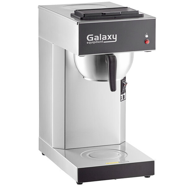 Scratch and Dent Galaxy Pourover Commercial Coffee Maker with 2 Warmers and Toggle Controls - 120V Main Image 1