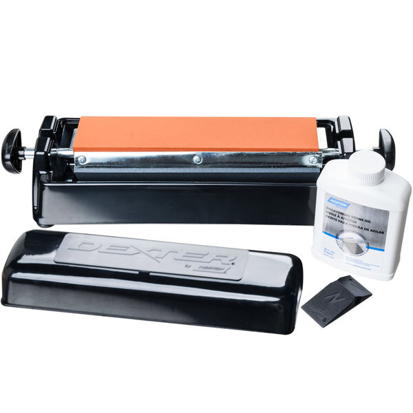 """Scratch and Dent Dexter-Russell 07946 12"""" Manual Tri-Stone Knife Sharpener System Main Image 1"""