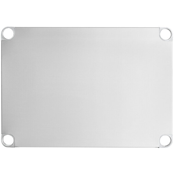 "Scratch and Dent Regency Adjustable Stainless Steel Work Table Undershelf for 24"" x 30"" Tables - 18 Gauge Main Image 1"