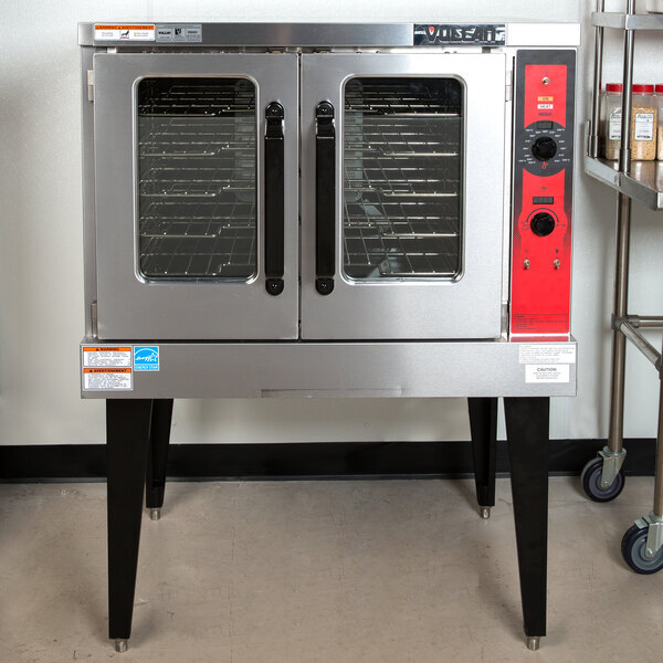 Scratch and Dent Vulcan VC5ED-11D1 Single Deck Full Size Electric Convection Oven with Legs - 208V, 3 Phase, 12 kW Main Image 1