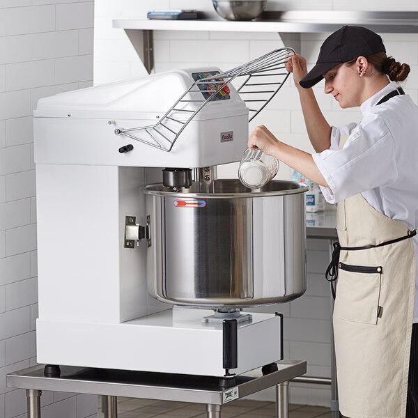 Scratch and Dent Estella SM60 60 qt / 90 lb. Two-Speed Spiral Dough Mixer - 240V, 4 HP Main Image 1