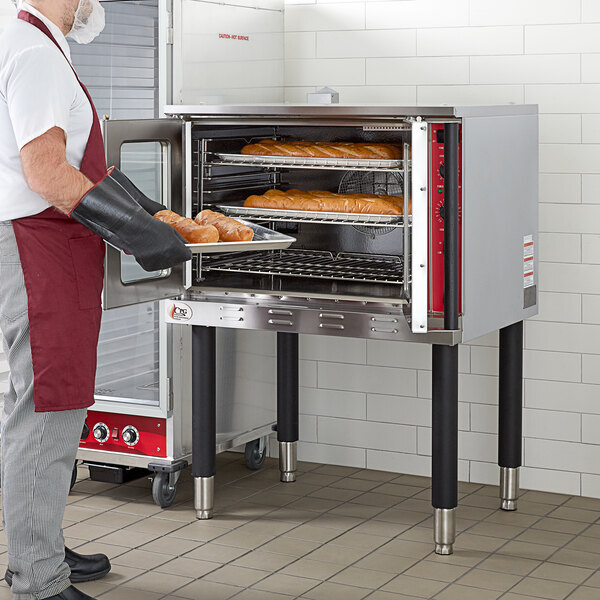 Scratch and Dent Cooking Performance Group FEC-100 Single Deck Full Size Electric Convection Oven - 240V, 3 Phase, 11 kW Main Image 1