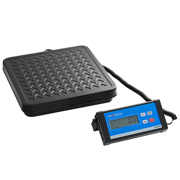 Scratch and Dent Avaweigh RS400T 400 lb. Digital Treaded Receiving Scale with Remote Display Main Image 1