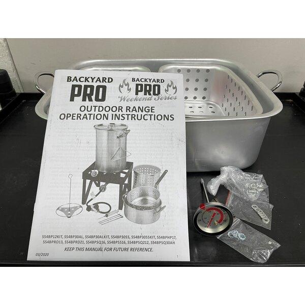 Scratch and Dent Backyard Pro BPSQ-F2B 18 Qt. Dual Basket Fryer / Fish Cooker - 55,000 BTU Main Image 1
