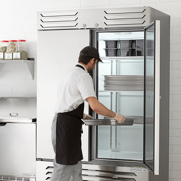 """Scratch and Dent Beverage-Air SR2HC-1S Slate Series 52"""" Solid Door Reach-In Refrigerator Main Image 1"""