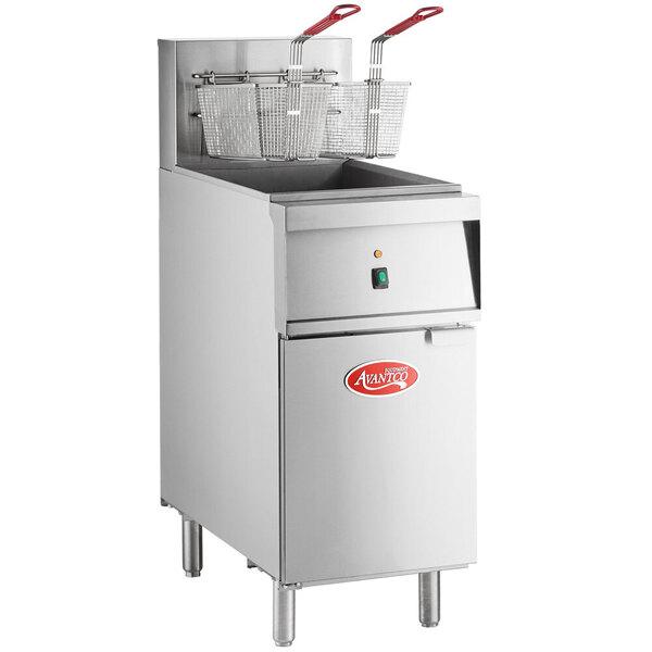 Scratch and Dent Avantco EF40-208-3 40 lb. Electric Floor Fryer - 208V, 3 Phase Main Image 1
