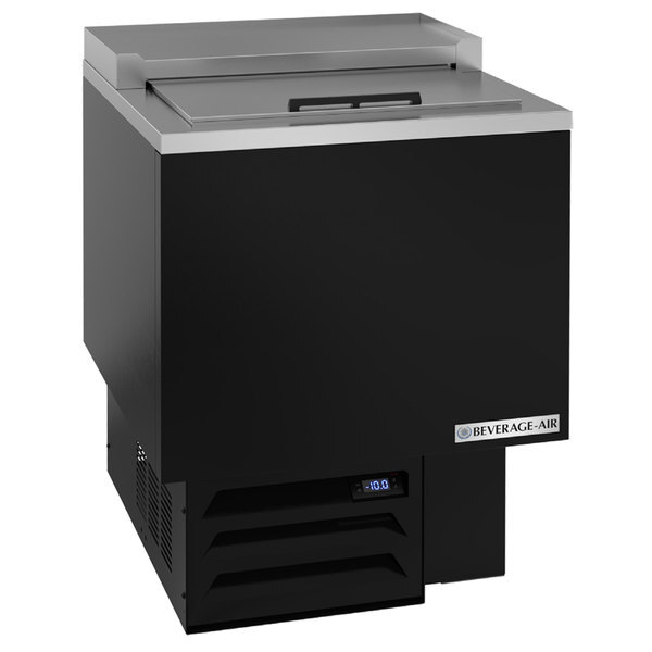 """Scratch and Dent Beverage-Air GF24HC-B 24 1/8"""" Black Glass Froster / Plate Chiller - 115V Main Image 1"""