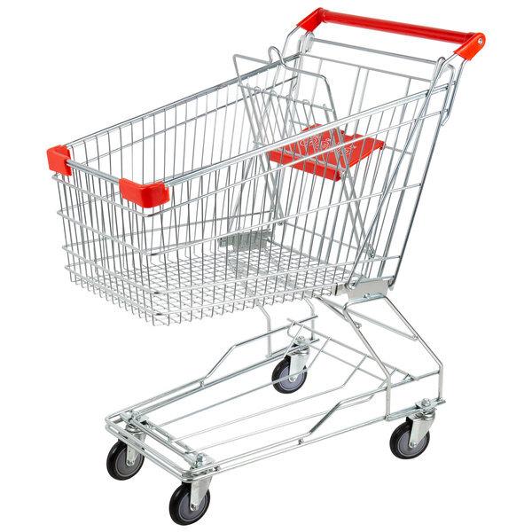 Scratch and Dent Regency Supermarket Grocery Cart 3.5 Cu. Ft. Main Image 1